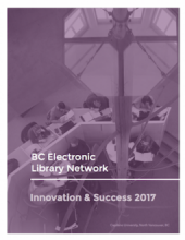 Image of the cover of the Innovation & Success 2017 Report: A photo of students studying at the library.