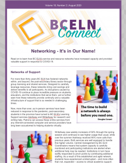 Image of the BC ELN Connect August 2020 Issue