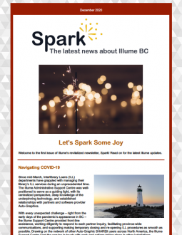 Image of the Illume Spark Newsletter