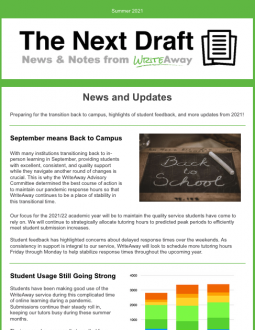 Cover of the Next Draft newsletter